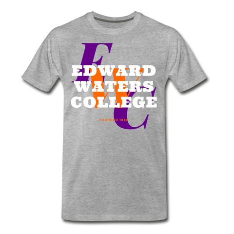Edward Waters College (EWC) Classic HBCU Rep U T-Shirt - heather gray