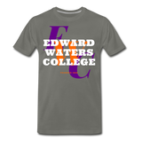 Edward Waters College (EWC) Classic HBCU Rep U T-Shirt - asphalt gray