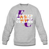 Edward Waters College (EWC) Classic HBCU Rep U Crewneck Sweatshirt - heather gray