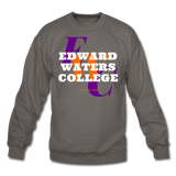 Edward Waters College (EWC) Classic HBCU Rep U Crewneck Sweatshirt - asphalt gray