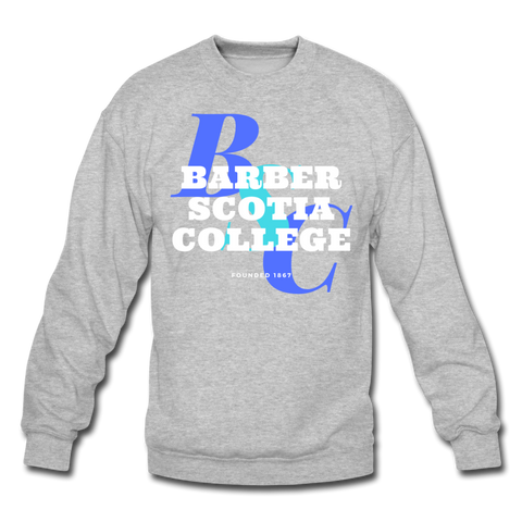 Barber-Scotia College Classic HBCU Rep U Crewneck Sweatshirt - heather gray