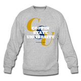 Coppin State University Classic HBCU Rep U Crewneck Sweatshirt - heather gray