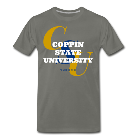 Coppin State University Classic HBCU Rep U T-Shirt - asphalt gray