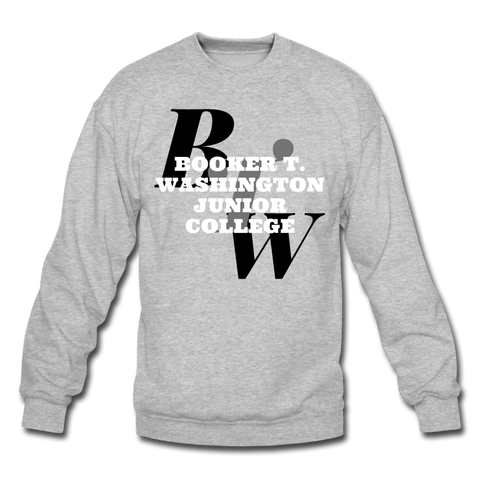 Booker T. Washington Junior College Classic HBCU Rep U Crewneck Sweatshirt - heather gray