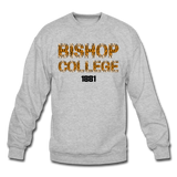 Bishop College Tiger Print Rep U Heritage Crewneck Sweatshirt - heather gray