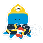 """Ops Firefighter"" Sticker"