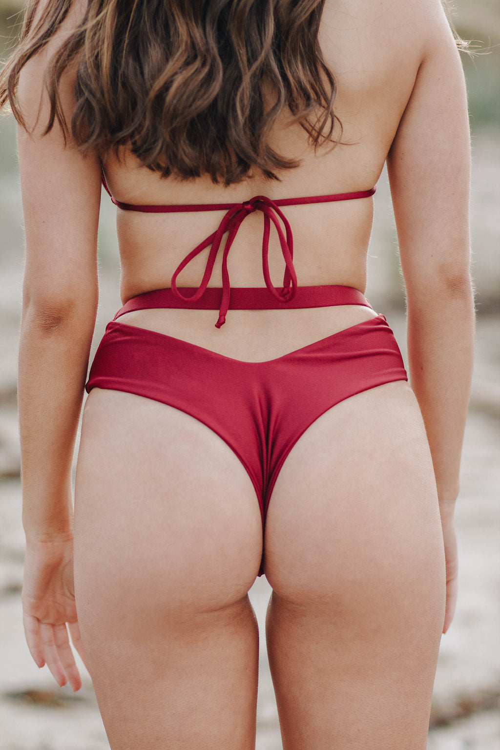 Katana Bottoms | High Waisted Bikini Bottoms | Peeki Swim