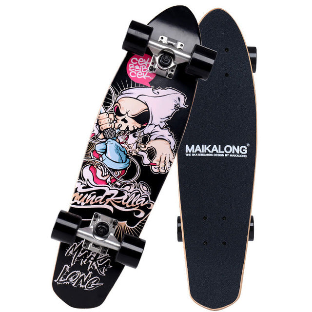 Gangster Skull Maikalong Maple Longboard