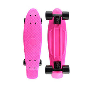 Hot Pink Penny Board with LED Light Up Wheels