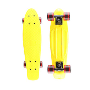 Yellow Pastel Penny Board with LED Light Up Wheels