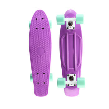 Purple Penny Board with LED Light Up Wheels