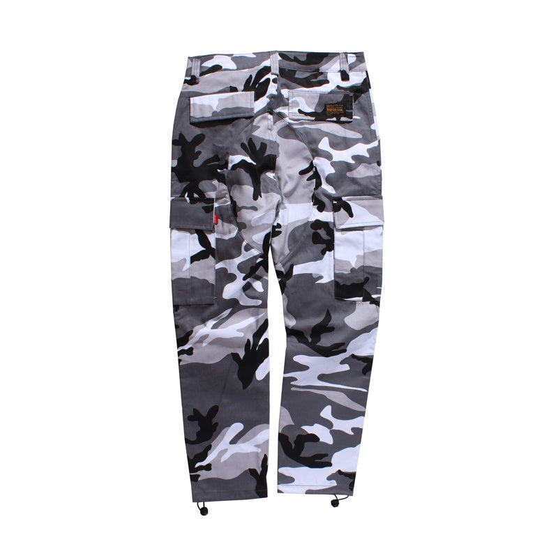 Camouflage Cargo Pants in Grey