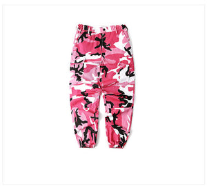 Camo Cargo Trousers in Pink