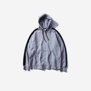 Side Striped Hoodie in Grey