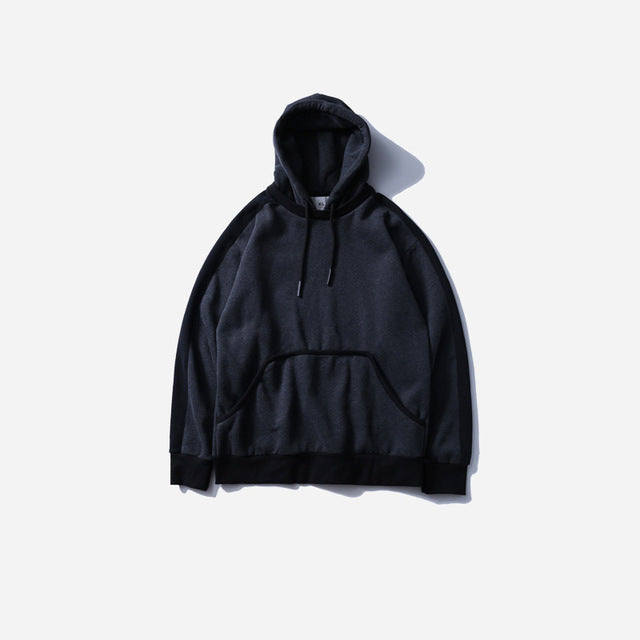 Side Striped Hoodie in Black