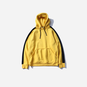 Side Striped Hoodie in Yellow