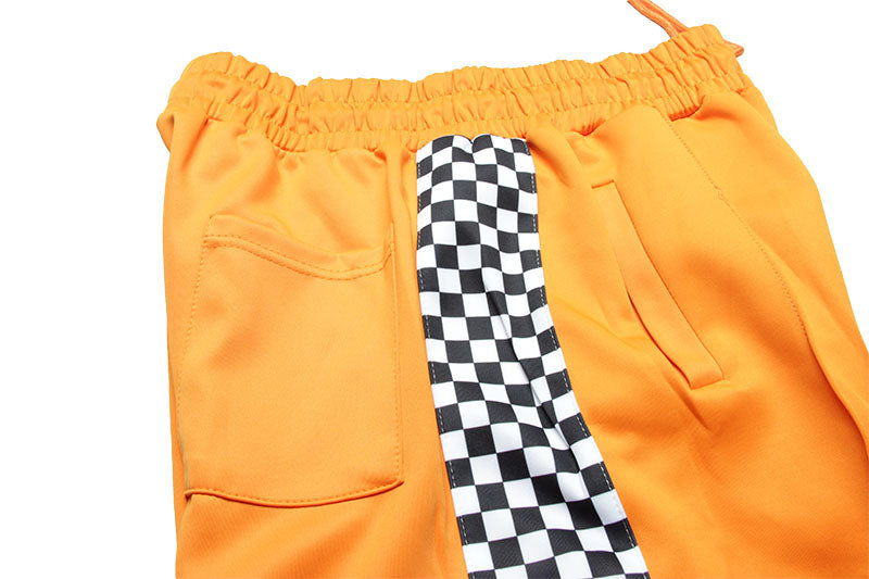 Trash Plaid Pants in Orange