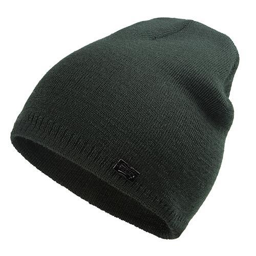 Wool Knit Beanie in Army Green