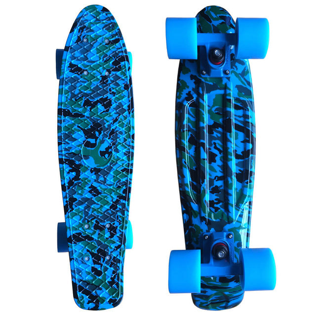 Blue Camo Penny Cruiser Board