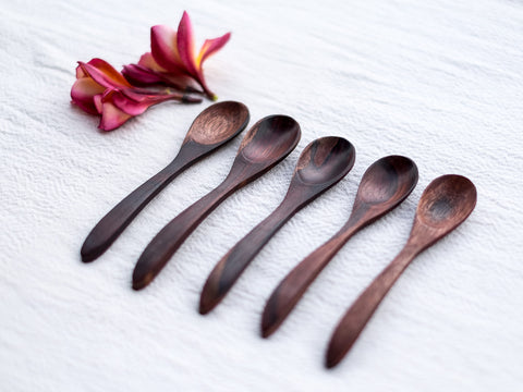 Indian Rosewood (Sono) Spoons : Set of 5