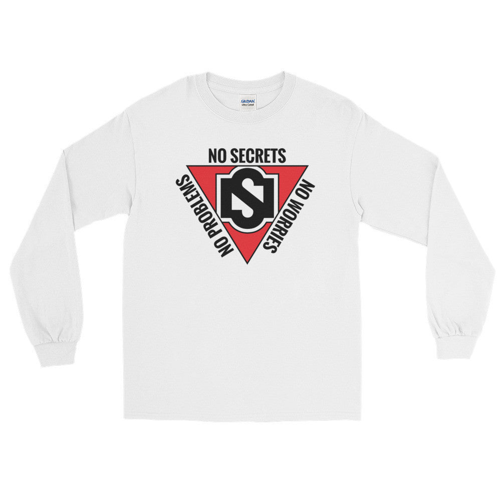 Red Triangle Black Logo Long-Sleeve T-Shirt