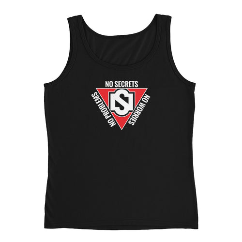 Red Triangle with White Logo Tank