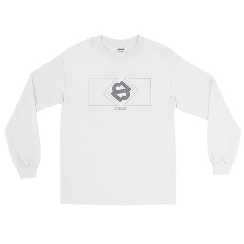 Boxed Gray Logo Long-Sleeve T-Shirt