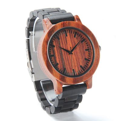 Jeremy-Red Sandalwood & Ebony Unisex Watch