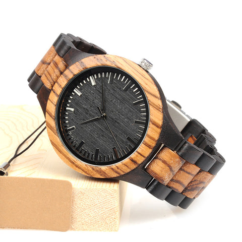 Dontae-Black Zebra Stripe Men Watch