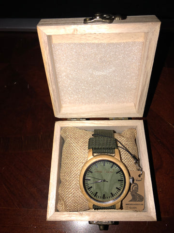 Green House-Nylon Bamboo Unisex Watch