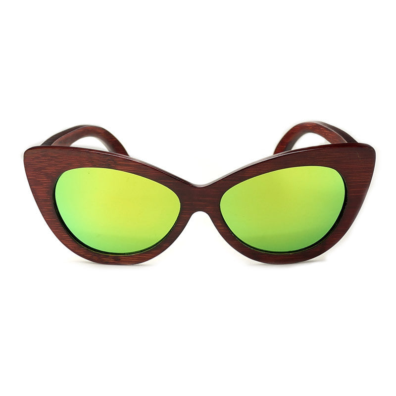 FE-Lecia-Red Sandalwood Women Sunglasses