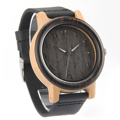 PB&J-Wooden Numerals Dial Men Watch