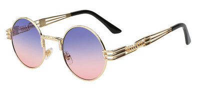 Vintage Round Ombre Metal Frame Unisex Sunglasses