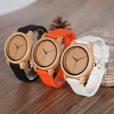 Klade-Bamboo Silicone Straps Unisex Watch