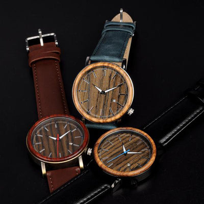 Ryan-Wooden Metal Men Watch