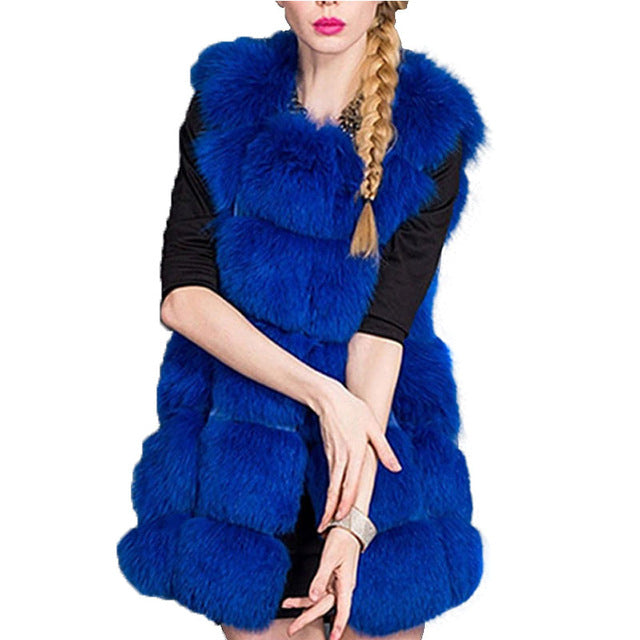 Flexin-Faux Fur Vest