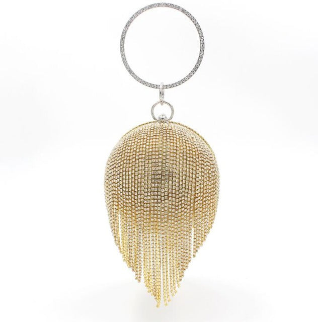 Ball Drop-Tassel Night Clutch