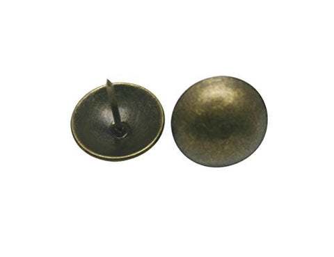 "Generic Round Large-headed Nail 1"" Diameter Color Antique Brass Pack of 30"