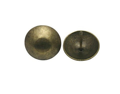"Generic Round Large-headed Nail 1"" Diameter Color Antique Brass Pack of 50"
