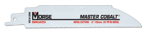 MK Morse RBMC64224T05 Master Cobalt Bimetal Reciprocating Saw Blade, 6-Inch by .042 24TPI, 5-Pack