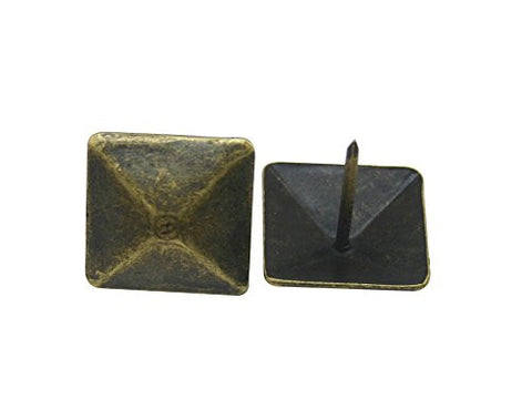 "Generic Pyramidal Large-headed Nail 0.75"" Side Length Color Antique Brass Pack of 30"