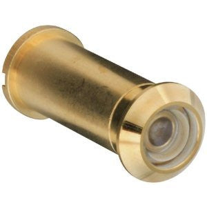 """ABC Products"" - National Hardware ~ 160-Degree Lens - Door Viewer (Bright Brass Finish)."