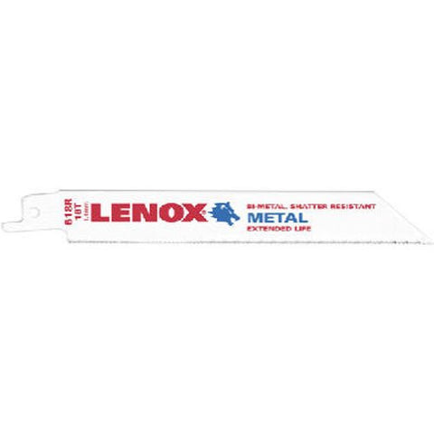 "LENOX 20566-618R 6"" 18TPI Metal Cutting Reciprocating Saw Blade - 5 Pack"