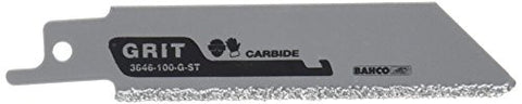 Bahco 3846-100-G-ST-2P Carbide-Grit Recip Straight, 4-Inch