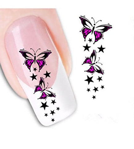 Ottery Beautiful Butterfly Nail Art Tips Stickers Water Transfer Decals Nail Decoration Nail Art
