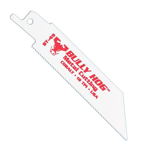 Stone Tools Bully Hog ST-49 4-Inch Straight Reciprocating Blades, 5 Pack