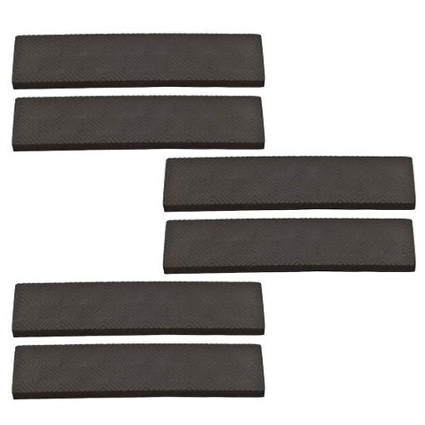 1 Inch By 4 Inch Self Adhesive Black Rubber Grip Strips Card of 6