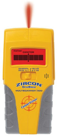 Zircon MultiScanner i500 Center-Finding Stud Finder with Metal and AC Electrical Scanning and DVD How-To Guide