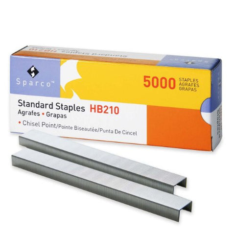 S.P. Richards Company Standard Staples, Chisel Point, 1/2-Inch W, 1/4-Inch L, 210 Strip (SPRHB210) Model: SPRHB210 Office Supply Store