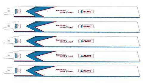EZARC R1226PM+ 12-Inch 14TPI Heavy Metal Cutting Reciprocating Saw Blade (5-Pack)